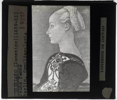 Domenico Veneziano. Portret van een jonge vrouw