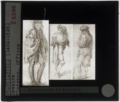 Franciabigio. Drie tekeningen van een man