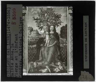 Image from object titled Girolamo dai Libri. Madonna en kind met Sint-Anna