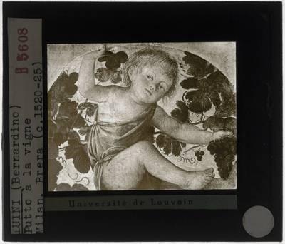 Bernardino Luini. Engel onder een pergola