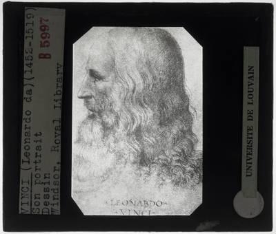 Francesco Melzi (toegeschreven). Portret van Leonardo da Vinci