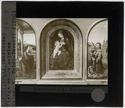 Mariotto Albertinelli. Triptiek met Madonna en heiligen
