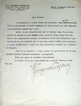 Letter from Giorgio Nurigiani to Salvini (12.5.1936)