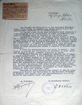 Letter from Giorgio Nurigiani to Salvini (1936)