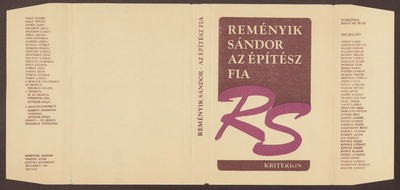 Az építész fia :  versek ; 1916-1941