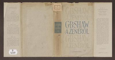 A muzsikáról :  G. B. Shaw válogatott zenei írásai