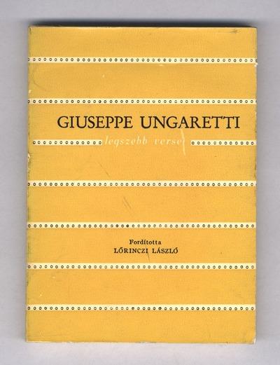Giuseppe Ungaretti legszebb versei
