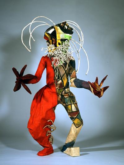 "Image from object titled Maskenfigur ""Toboggan Mann"""
