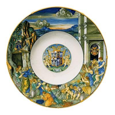 Prunkschüssel aus dem Hofservice von Isabella d' Este, Mantua