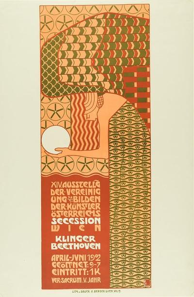 XIV. Ausstellung der Vereinigung bildender Künstler Österreichs - Secession Wien. Klinger - Beethoven