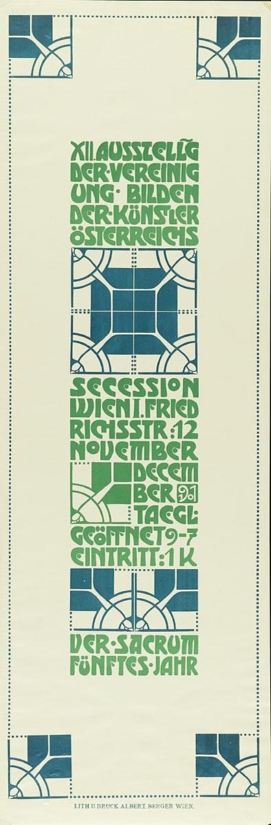 XII. Ausstellung der Vereinigung bildender Künstler Österreichs Secession