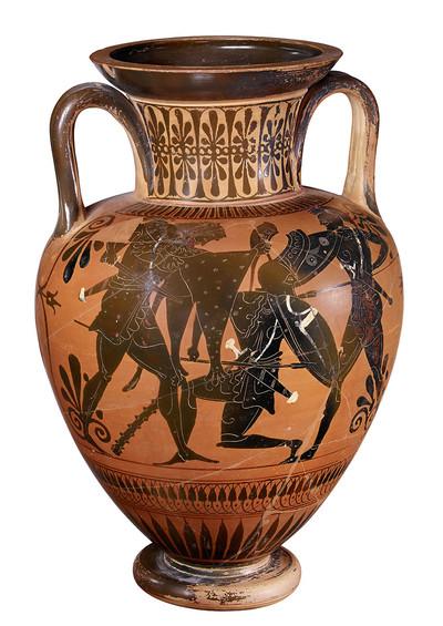 Halsamphora (Kampf zwischen Herakles und Kyknos)