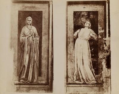 Padua - Arenakapelle: Tugenden und Laster, Iustitia und Iniustitia von Giotto