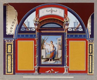 Antike Wandmalerei in der Villa Negroni in Rom
