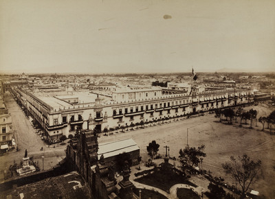 No. 233. Panorama of Mexico City, the Palace from the Cathedral.