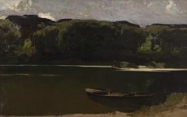 Waldsee mit Boot