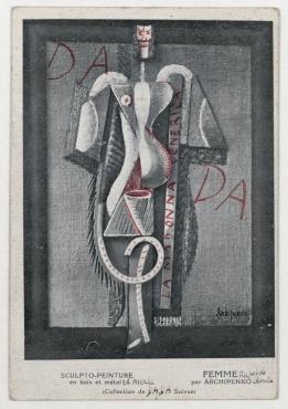 Postkarte von Theo van Doesburg an Raoul Hausmann. Leiden