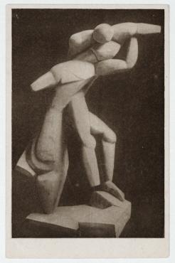 Sturm-Postkarte Alexander Archipenko: Recherche de plastique de 1913. Erster Deutscher Herbstsalon, Berlin