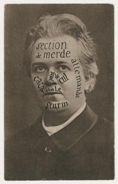 Sturm-Postkarte von Raoul Hausmann an Tristan Tzara. Berlin