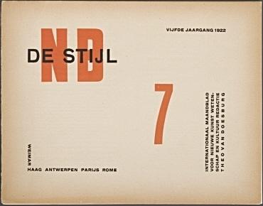 De Stijl. Internationaal maandblad voor nieuwe kunst, wetenschap en kultuur, Leiden [u.a.]. 5. Jahrgang, Juli 1922, No. 7, 8 S. [Kolumnen 97-112 der Gesamtfolge]