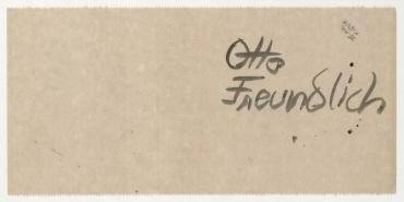 Notizzettel Otto Freundlich