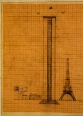 Studie für ein Hochhaus (im Verhältnis zum Eiffelturm)
