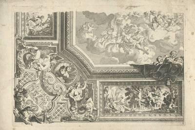 """Blatt 3 aus der Folge """"Nouveaux Livre de Plafond par D. Marot"""""""
