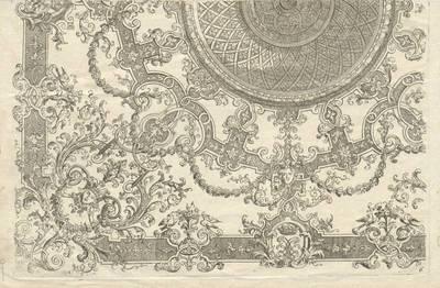 """Blatt 6 aus der Folge """"Nouveaux Livre de Plafond par D. Marot"""""""