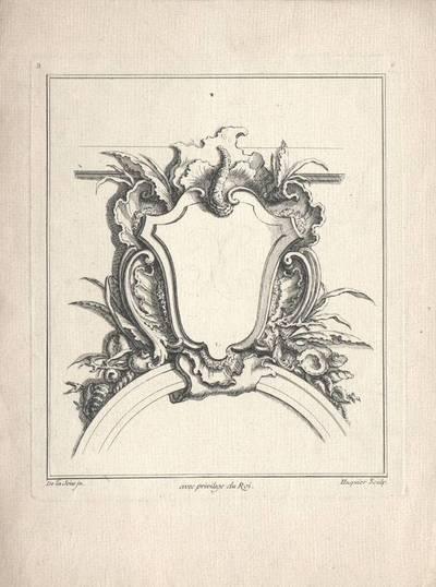 """Rocaille- Kartusche, Blatt 6 aus der Folge """"Livre de Cartouches"""""""