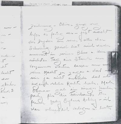 Tagebuchauszug von Tilly Losch