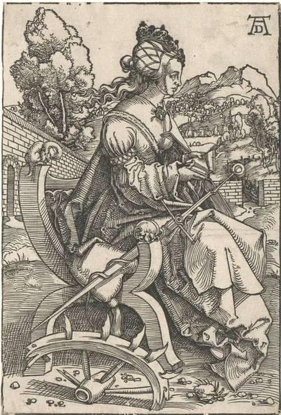 Die Hl. Katharina, vormals Dürer zugeschrieben, zweiter Zustand