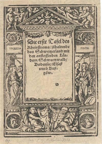 Titeleinfassung mit Judith und Lucretia