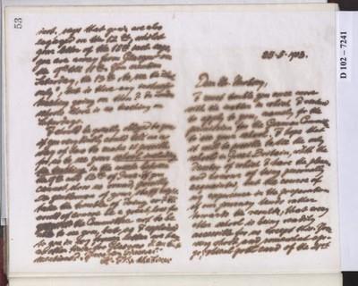 Schreiben an Francis Henry Newbery (Brief)