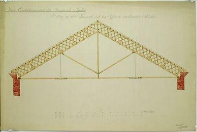 Dachstuhlkonstruktion Nach Dem Vorbild Amerikanischer Brucken