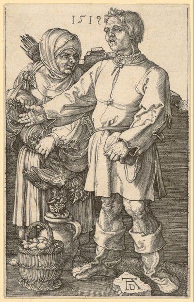 Image from object titled Der Marktbauer und sein Weib
