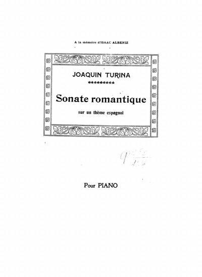 Image from object titled Sonate romantique sur un theme espagnol : pour piano