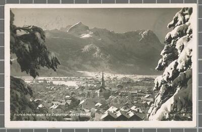 Partenkirchen gegen die Zugspitzgruppe (2964 m)