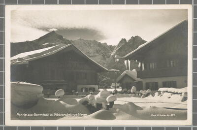 Partie aus Garmisch m. Wettersteingebirge