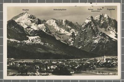 Garmisch mit Wettensteingebirge