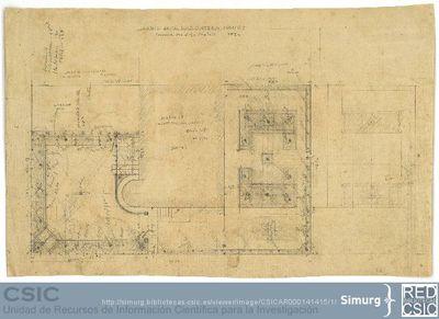 Javier de Winthuysen (1874-1960)   Material gráfico; Planta del jardín para la residencia del Sr. Ortega y Gasset