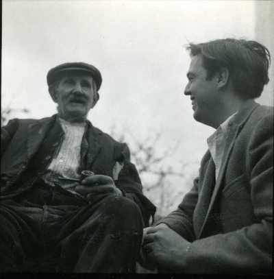 Image from object titled Bill Westaway and Alan Lomax. Belstone, Devon, England, 1953