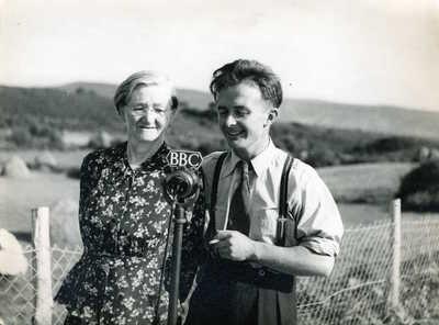 Brigid Tunney and Paddy Tunney. Beleek, Co. Fermanagh, Northern Ireland, 1952