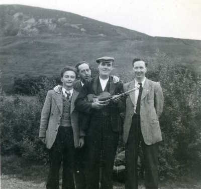 Paddy Tunney, Sean O'Boyle, Johnny Doherty and Liam O'Connor. Donegal, Ireland