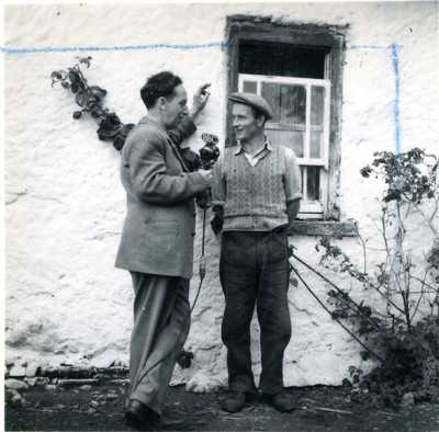 Sean O'Boyle and Edward Quinn Junior. Castlecaulfield, Co. Tyrone, Ireland, 1953