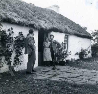 Sean O'Boyle, Annie Meehan and Paddy Tunney. 'The Ring', Tamur, Pettigo, Co. Donegal, Ireland, 1953