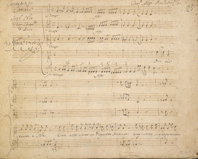 Image from object titled Alessandro Scarlatti: Cantata, 'Ombre tacite e sole', for soprano solo, two violins, viola and basso continuo
