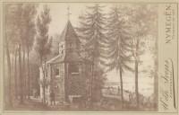 Een litho van de Sint Nicolaaskapel, van Generaal Howen, uit 1832
