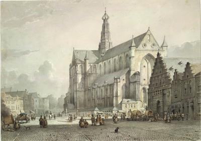 De Grote markt te Haarlem