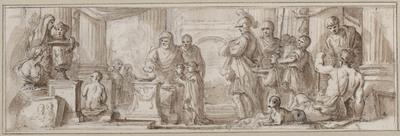 Image from object titled Offer door Alexander de Grote aan Zeus Ammon