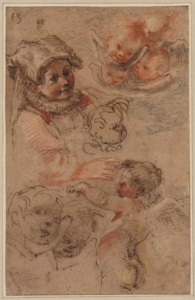 Meisjeskopje, cherubijnen en engelenkopjes